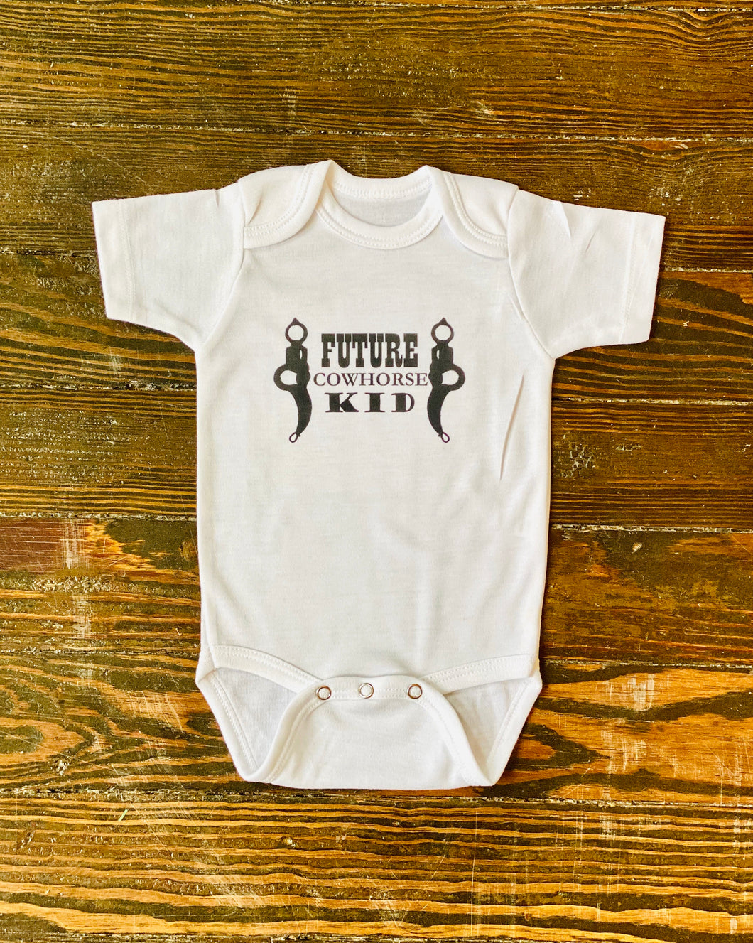 Future Cowhorse Kid Onesie