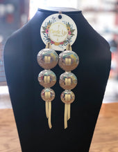 Load image into Gallery viewer, Three Concho Leather Earring