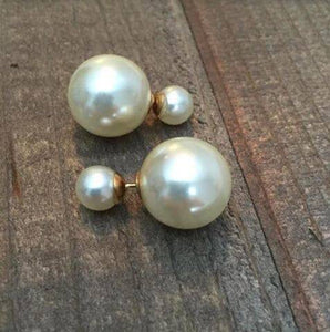 Double Pearl Studs