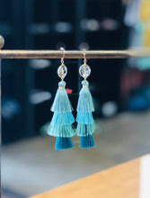 Load image into Gallery viewer, Layered Tassel Earrings