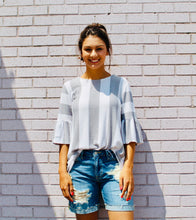 Load image into Gallery viewer, Undeniable Striped Top WHITE/GREY