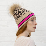 Autumn Cashmere - Sporty Leopard Hat - Cork