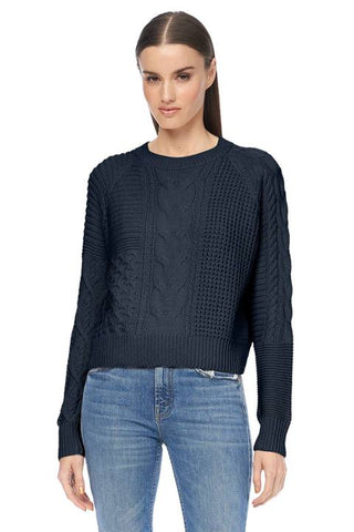 360 Sweater - Drea Cropped Sweater - Midnight