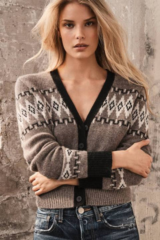 360 Cashmere - Aura Cropped Fair Isle Sweater - Porcupine Multi