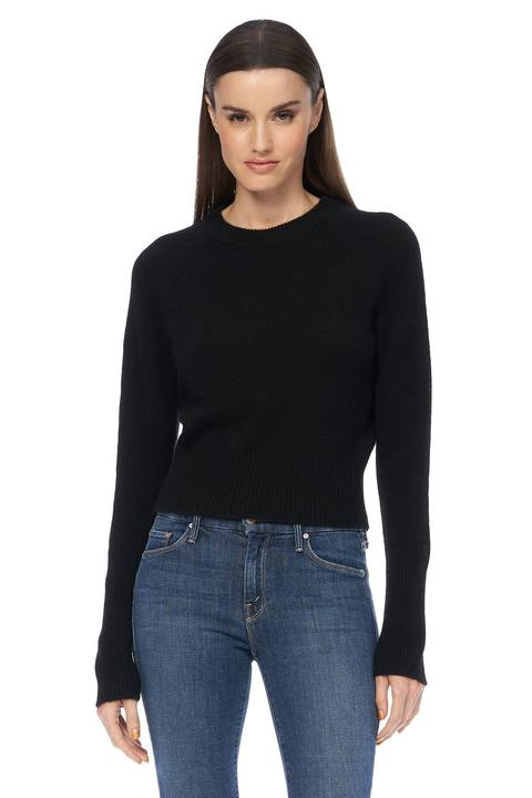 360 Cashmere - Jessika Perfect Cropped Sweater - Black