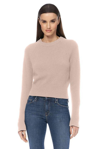 360 Cashmere - Jessika  Perfect Cropped Sweater - Adobe Pink