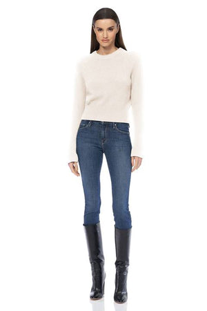360 Cashmere - Jessika Perfect Cropped Sweater - Chalk