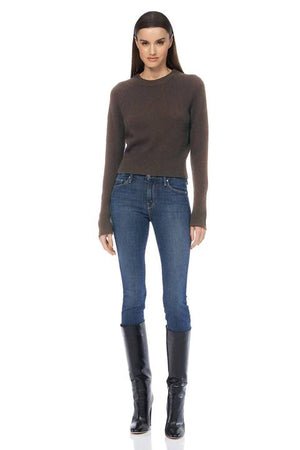 360 Cashmere - Jessika Perfect Cropped Sweater - Espresso