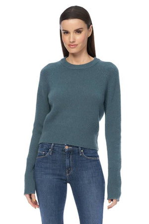 360 Cashmere - Jessika Perfect Cropped Sweater - Teal