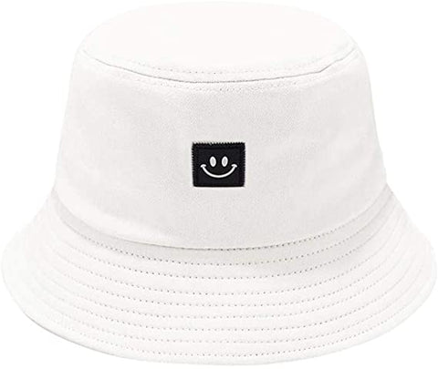 Smiley Bucket Hat - White