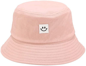 Smiley Bucket Hat - Pink