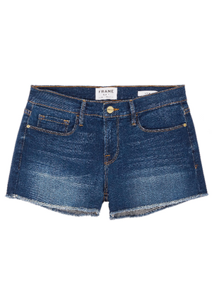 Le Cut Off Williams raw edge cuff denim shorts