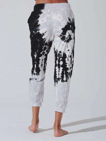 Electric and Rose - Abbot Kinney Sweatpant - Ying Yang Spiral Thunder/Onyx