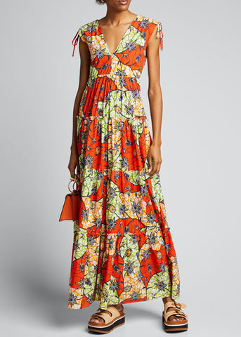 Warm - Island Dress - Red Multi