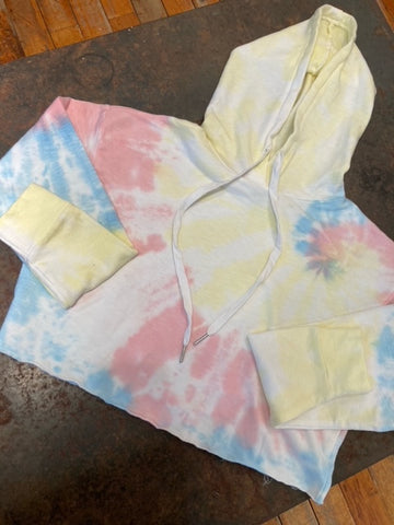 Olive and Bette's - Cropped Tie Dye Hoodie
