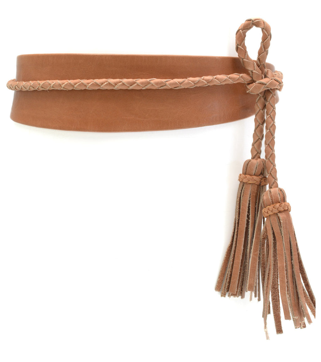 Ada - Lucky Wrap Belt - Cognac