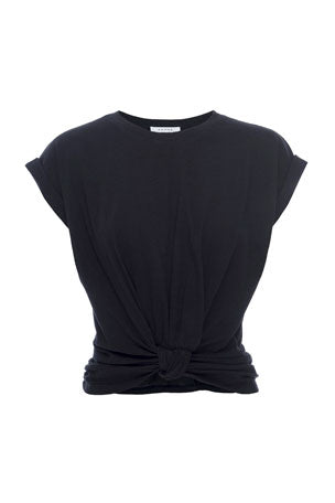 Frame - Knotted Rolled Tee - Noir