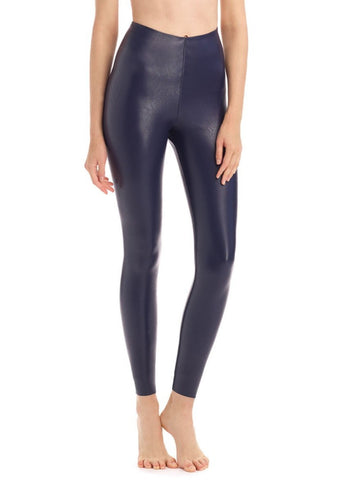 Commando - Faux Leather Legging - Navy