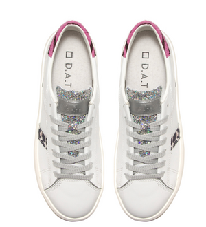 D.A.T.E - ACE ANIMALIER WHITE-PINK SNEAKER