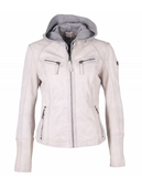 Mauritius - Nola RF Leather Jacket - White
