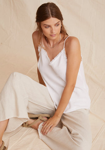 Bella Dahl - Frayed Cami - White