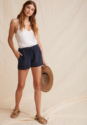Bella Dahl - Fray Hem Pocket Short - Endless Sea