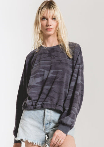 Z Supply - Camo Pullover - Indigo
