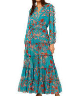 Misa - Hadeya Dress Talitha Teal Paisley