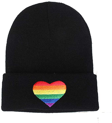 Olive and Bette's - Rainbow Heart Knit Hat