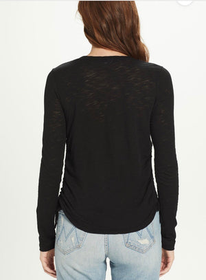 GOLDIE - Ruched Side L/S Tee