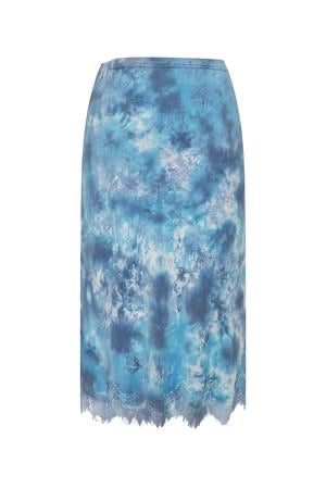 Gold Hawk - Ella Tie Dye Skirt - Victorina Blue