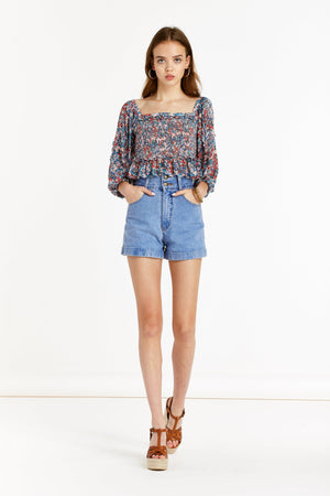 Beautiful Creature - Woodstock Top - Ditsy Floral