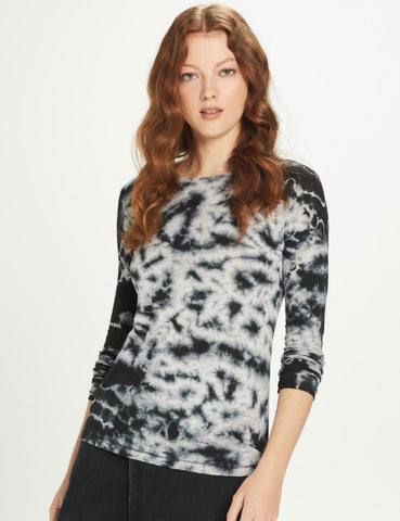 Goldie - Tie-Dye Long Sleeve Crew - Black