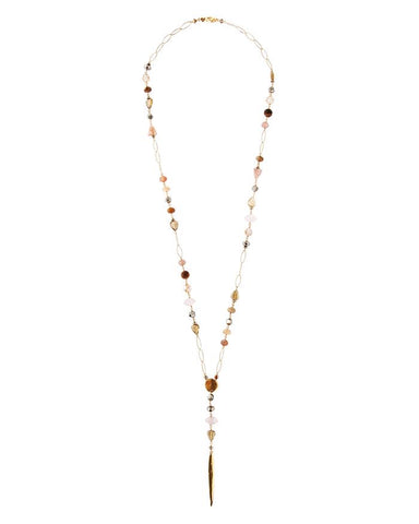 Multi Stone Lariat Necklace