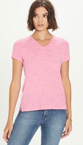 Goldie - V Neck Boy Tee - Pink