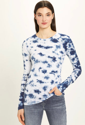 Goldie - Tie-Dye Long Sleeve Crew - Indigo