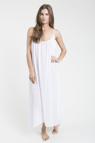 Nine Seed -Tulum Maxi Dress - White
