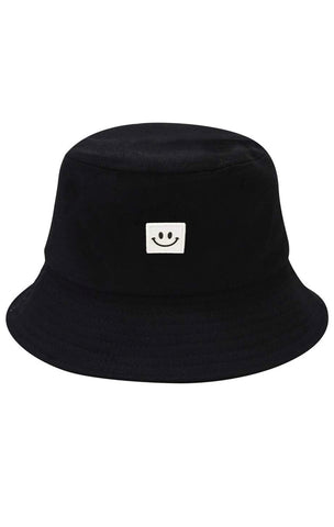 Smiley Bucket Hat - Black