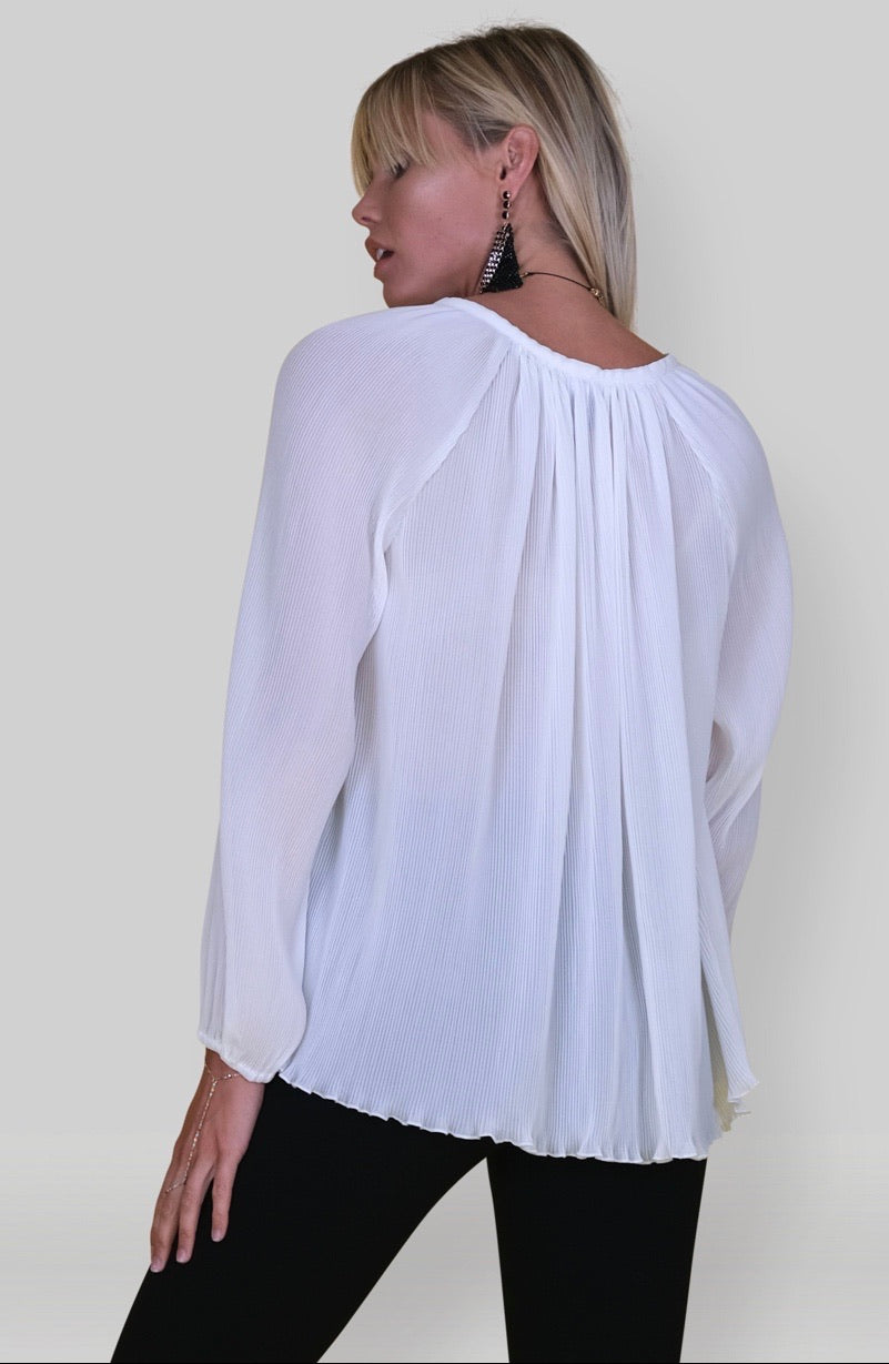 Michael Pleated Blouse