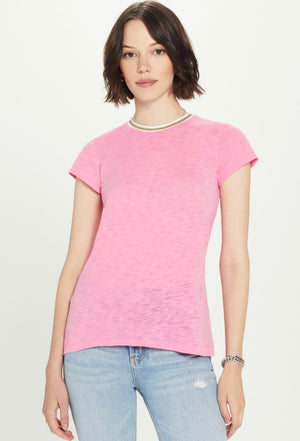 Goldie - Metallic Tipped S/S Tee - Pink