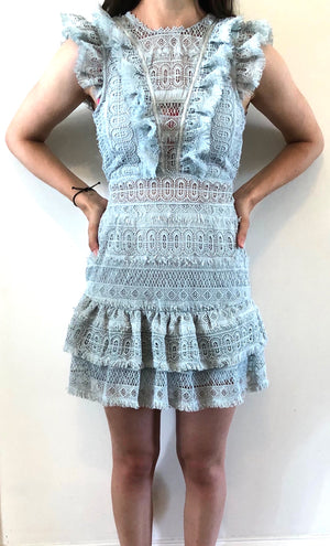 Ruffle Lace Mini Dress