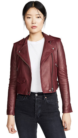 IRO - Ashville Leather Jacket - Cardinal