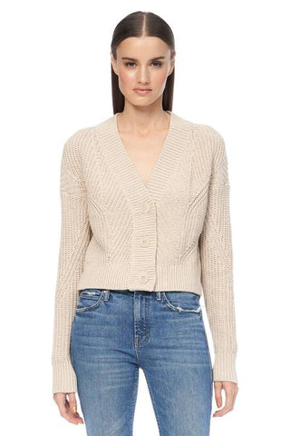 360 Cashmere - Lisette Cardigan - Light Khaki