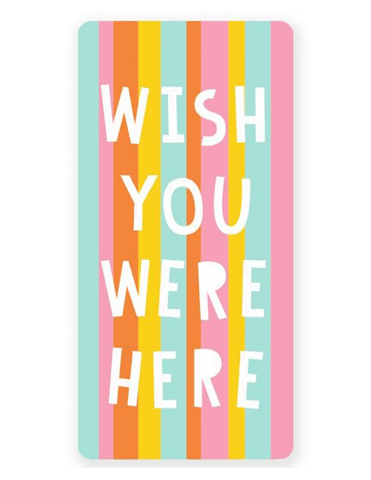Olive and Bette's - Wish you were here beach towel