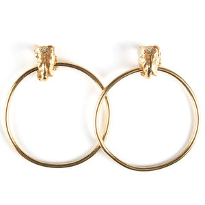 La Mujer Earrings - Large Gold