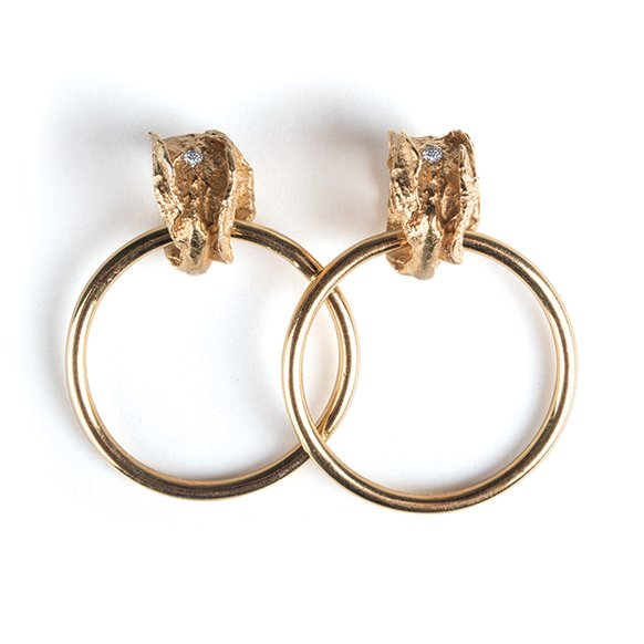 La Mujer Earrings - Medium Gold