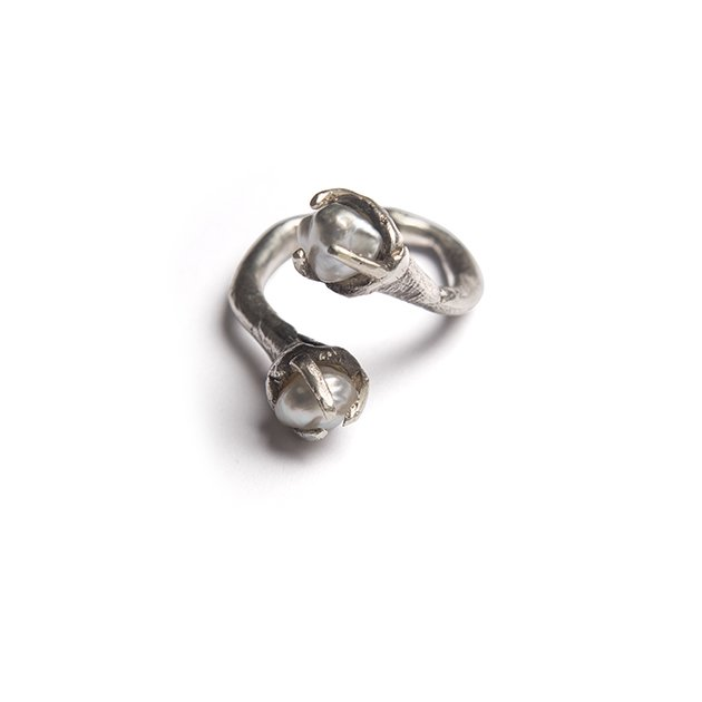 Pearl Double Eater Ring