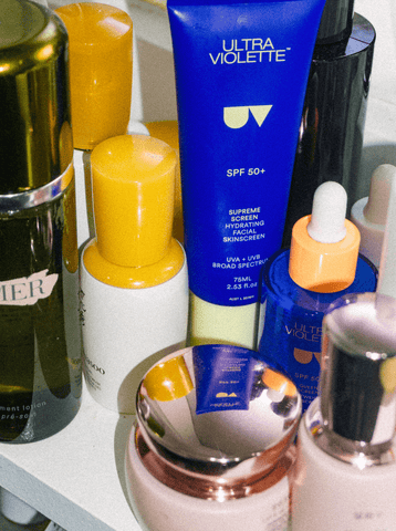 Image of Iain's beauty routine featuring Supreme and Queen Screen