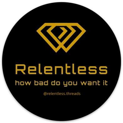 Relentless Circle Sticker