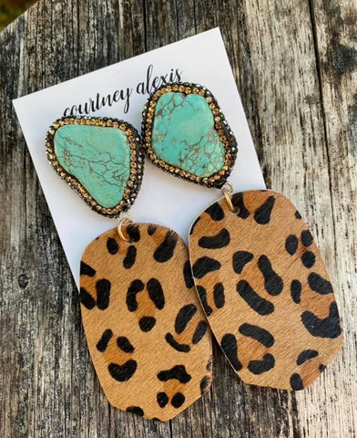 Jessica Leopard Earrings